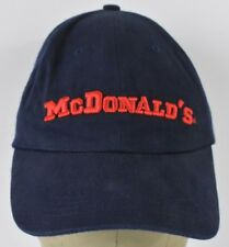 Navy Blue McDonald's Fast Food Embroidered Baseball Hat Cap Adjustable Strap