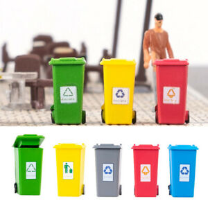 5x 5 Color Small Kids Curbside Trash Recycle Can Bin Toy Pencil Cup Holder