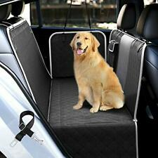 Dog Car Seat Covers with Mesh Visual Window for Back Seat, Waterproof Black