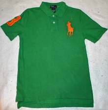 Ralph Lauren Boy's Green Big Logo Pony Polo Shirt Top M 10 12 Yrs.