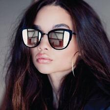 "NEW QUAY AUSTRALIA Black/Silver ""SUPER GIRL"" Cat Eye Sunglasses -SALE"