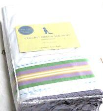 Pottery Barn Kids Ribbon Bedskirt Crib Bed Skirt Baby Purple Green Yellow White