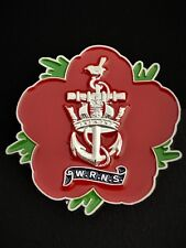 Womens Royal Navy Service WRNS Remembrance Flower Lapel Pin (P27)