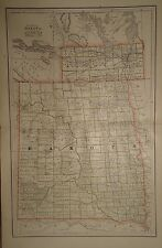 Vintage 1886 Dakota Territory Map Old Antique Original Atlas Map 1886/101515