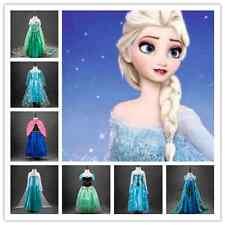 Flower Grils Princess Fancy Princess Queen Elsa Anna Cosplay Costume Party Dress