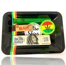 Bob Marley Rolling Tray Wise Skies Smoking Rolling Paper Gift Set Grinder Raw UK