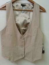 NWT Beige Bone Striped Hurley Vest Lowrider Size L Large New