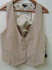 NWT Beige Bone Striped Hurley Vest Lowrider Size L Large New