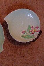 Carlton Ware shallow dish Australian Design flower & leaf hand painted 1950-1960