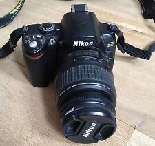 Nikon D D40 6.1MP Digital SLR Camera - Black (Kit w/ 18-55mm Lens + UV Filter)