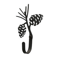Pinecone Wall Mount Coat Hook Village Wrought Iron Log Cabin Lodge Home Decor