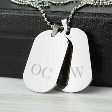 Identity Army Style Double Dog Tag Necklace - Personalised