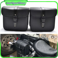 2 PCS Mini Motorcycle PU Saddle Bags Side Storage Tool Pouch Waterproof Reliable