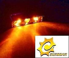 Sunbeam ámbar Lazer de rayo láser Triple Led Pc Computadora caso Ultimate Modding 12v