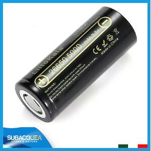 Batteria 26650 Ricaricabile a Litio Batterie 5000 mAh 3.7v Pila Pile volt al da