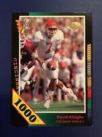 1992 Wild Card #SP5 DAVID KLINGLER Rookie RC 1000 STRIPE Bengals Houston RARE