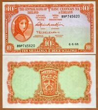Ireland Republic, 10 shillings, 1968, Pick 63 UNC