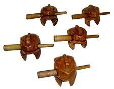 "1.5""  Mini Frog Carved Wooden Croaking Instrument Musical Sound Frog Handcraft"