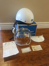 Vintage Buco Helmet With Box Bubble Shield Visor & Original Receipt 6 1/2-7 3/8