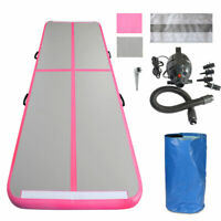 16FT Airtrack Inflatable Air Track Tumbling Gymnastic Mat Train Gym Pink+ Pump