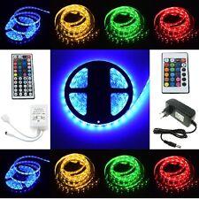 RGB LED Streifen Strip SMD 5050 30/ 60leds/m Leiste + Controller + Trafo dimmbar