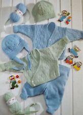 Baby Knitting Patterns Vintage Cardigan Leggings Hat Premature - 2/3 Years P917