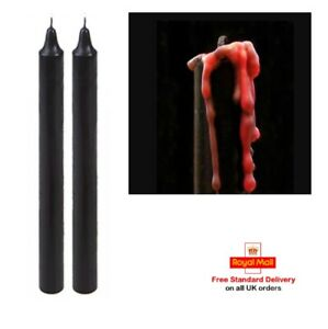 Weeping Candles - Black Tapered Dripping Twin Pack - Bleeding Candles