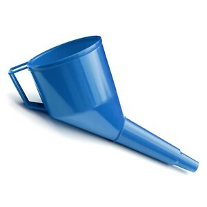 Plastic Funnel with Strainer for Oil Water Fuel Petrol Diesel PP BLUE