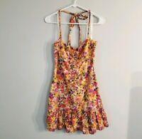 Ann Taylor LOFT Floral Halter Dress Sz 2