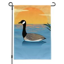 Canadian Goose Geese Swimming Canada Garden Yard Flag
