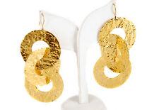 Osanna Visconti donna Moneta D'Oro Orecchini Playful ORIGINALE multi anelli BCF59