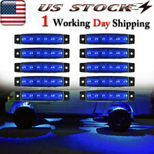10x Blue LED Rock Light For JEEP Offroad Truck UTV Bed Under Body Fog Lights 12V