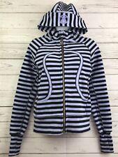 Lululemon Scuba Hoodie Jacket Size 4 Sea Stripe Polar Haze Black