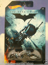 Eccellente Matell HOT WHEELS IL CAVALIERE OSCURO BATMAN Moto BAT-POD MINT IN CARD 4/6