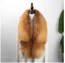 "150cm/59""inch Men&Women Real Natural Red Fox Fur Collar Scarf Shawl Wrap Cape US"