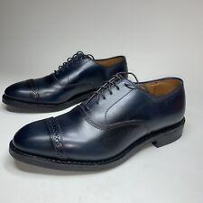 Allen Edmonds Fifth Avenue Cap-Toe Oxfords Mens Size 8 Navy Blue Made in USA