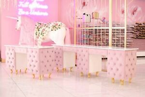 Salon Desks And Nail Bars Bespoke In All Colours