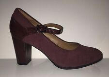 NEW Clarks Bavette Cathy Women's Suede Leather Mary Jane Pumps Shoes Sz 6.5