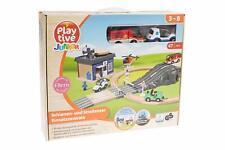 Playtive Junior Schienen und Straßenset Einsatzzentrale