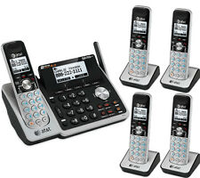 AT&T DECT 2-Line Answering Machine System 5 Cordless Phone Set TL88102 4 88002