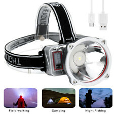 Waterproof Head Torch Headlight LED USB Rechargeable Headlamp Flashlight 3Modes