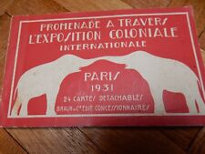 ART DECO  COMPLETE 1931 BOOK OF 24 POSTCARDS PARIS COLONIAL EXPOSITION