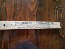 "Vintage 1941 Wisconsin Fishing Ruler 18"""