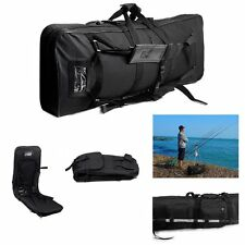 1.2M Large Fishing Tackle Bag Travel Rod Holdall Carry Case Gym Duffel Backpack
