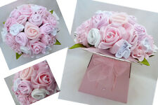 BEAUTIFUL NEW BABY GIRLS CLOTHES BOUQUET GIFT O-3mth +10 NAPPIES & ANGEL CHARM