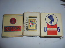27838 4x Zigarettenschachtel RAMSES Union U9  Bulgaria Krone VK leer cigarette