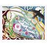 PAGAN WICCAN GREETING CARD Full Moon & Faerie BIRTHDAY Blank CELTIC JAINE ROSE