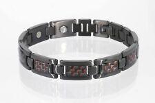 Titan Magnetarmband rot schwarz Herren Damen Cristor Magnetschmuck T 8201 BLe