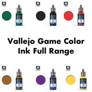 Vallejo Game Color Inks 17ml Full Colour Range
