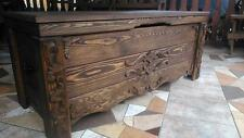 Wooden Blanket Box Coffee Table Trunk Vintage Chest Wooden Ottoman Toy Box (CZ2)